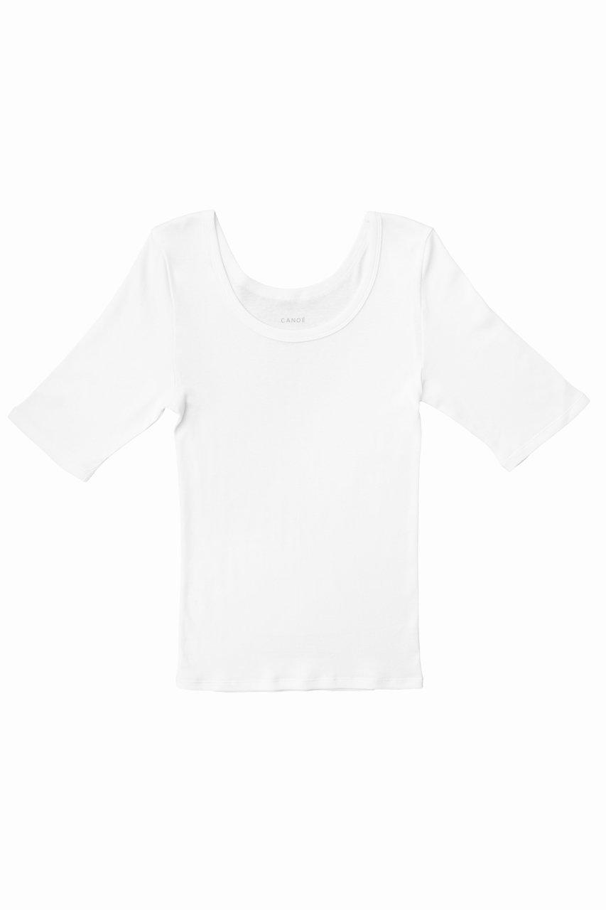 Ultimate Pima Organic Cotton TIGHT FIT HALF SLEEVE CREW-NECK