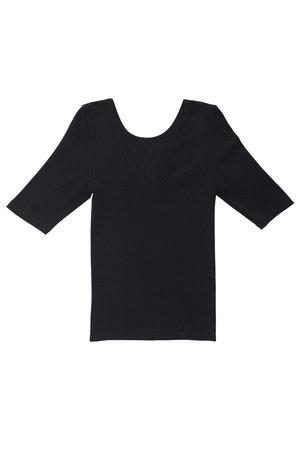 Ultimate Pima Organic Cotton TIGHT FIT HALF SLEEVE V-NECK