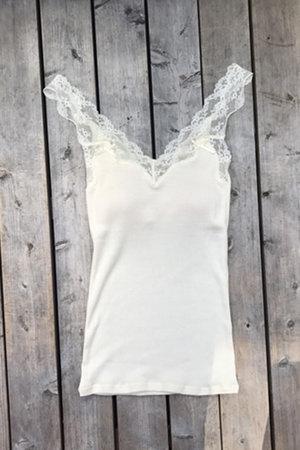 絹糸紡シルク キャミソール 月白(染なし)