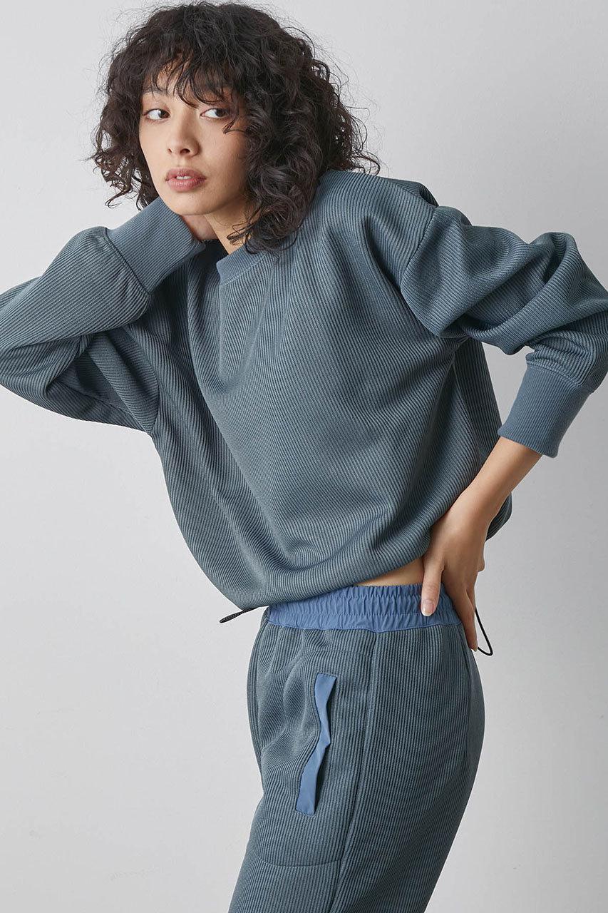 ハーフゲージ裾ゴムプルオーバー
