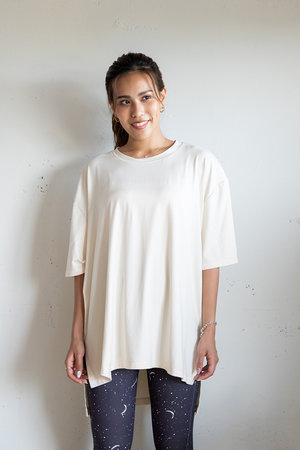 【UV&接触冷感】 ソフトタッチビッグTシャツ